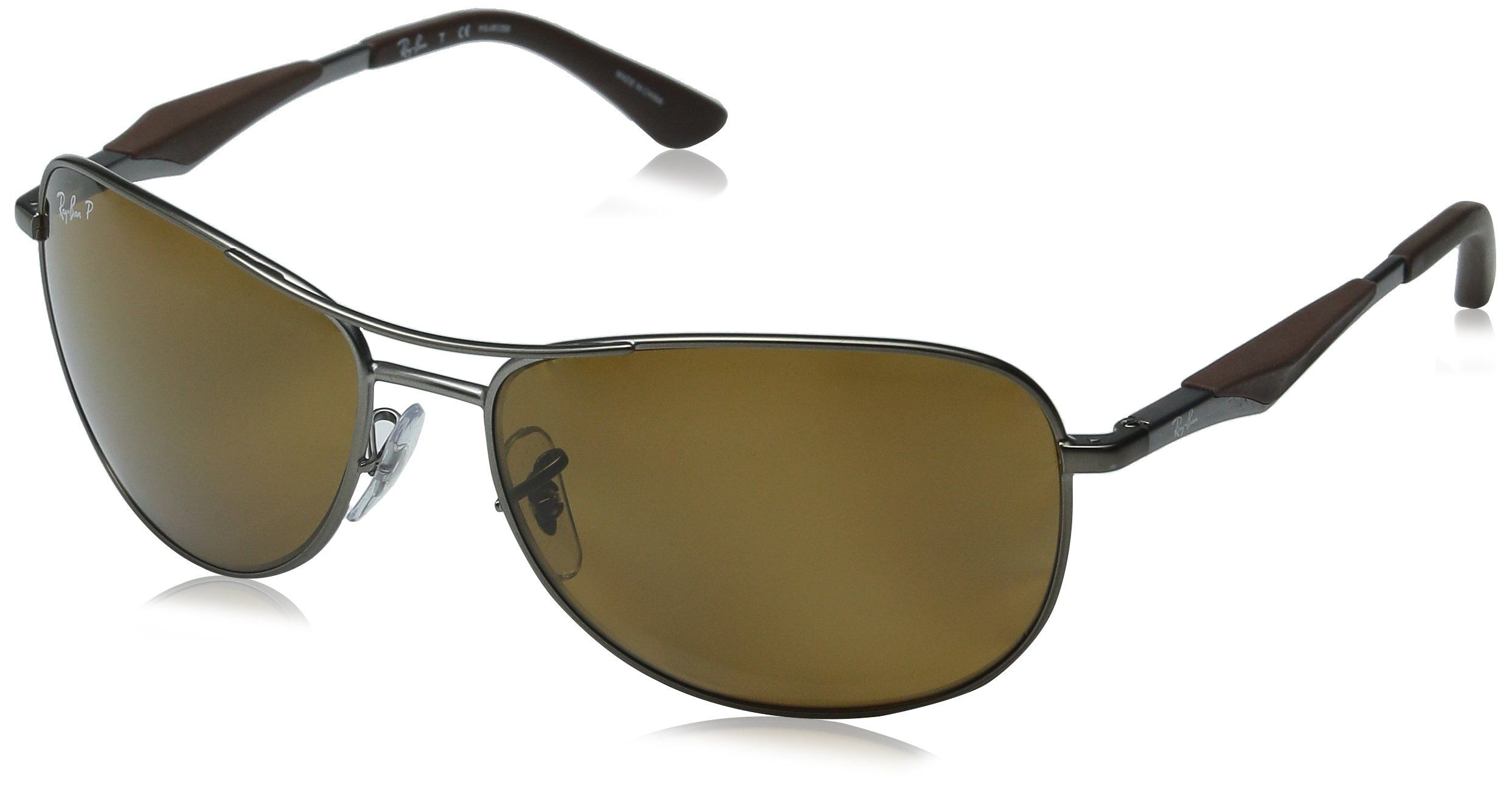 c90b30d00577e9 RayBan Polarized RB3519 Sunglasses Matte Gunmetal Frame Brown Lens     Read  more reviews of the product by visiting the link on the image.