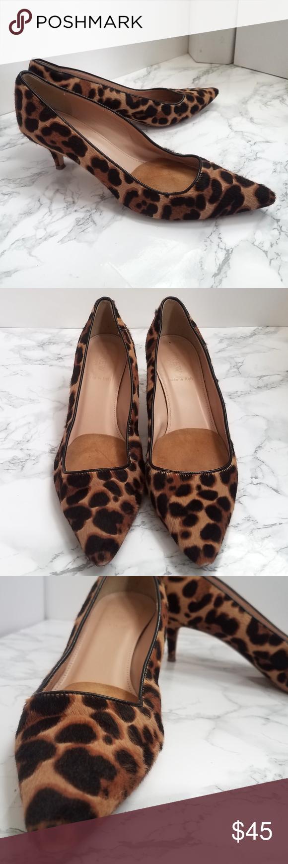 J Crew Leopard Kitten Heels Kitten Heels Heels Shoes Women Heels
