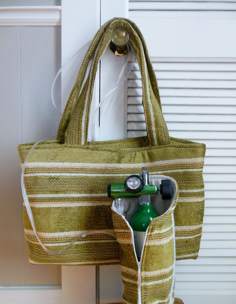 Oxygen Tank Tote Bag B M9 & C | Autumn Gold Upholstery