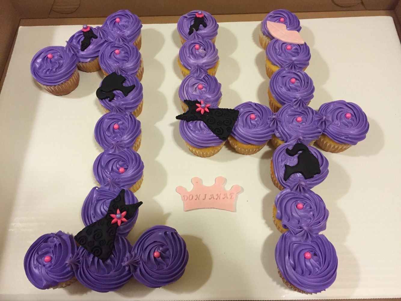 Birthday Cakes For 14 Years Old Girl Cupcake Cake For A 14