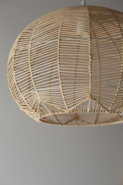 NATURAL ROUND RATTAN PENDANT & Lace rattan light - natural - pre order | Rattan Lights and Pendant ...