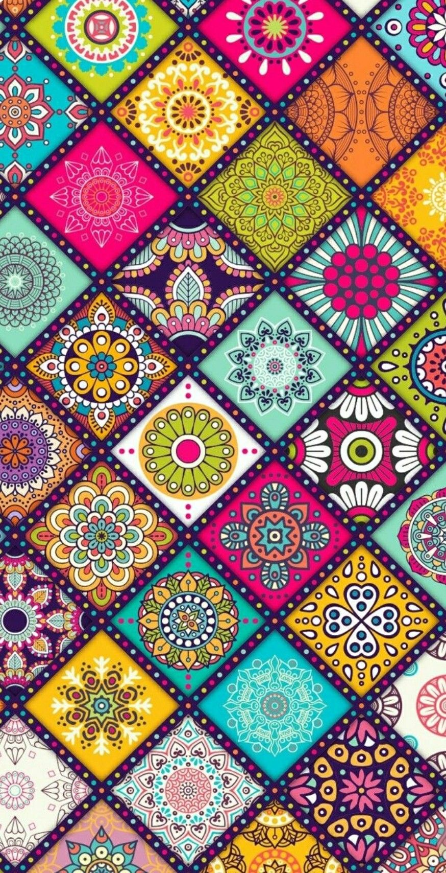 Pin By Victoria Lozano On Wallpapers Hippie Painting Paisley Art Brick Art