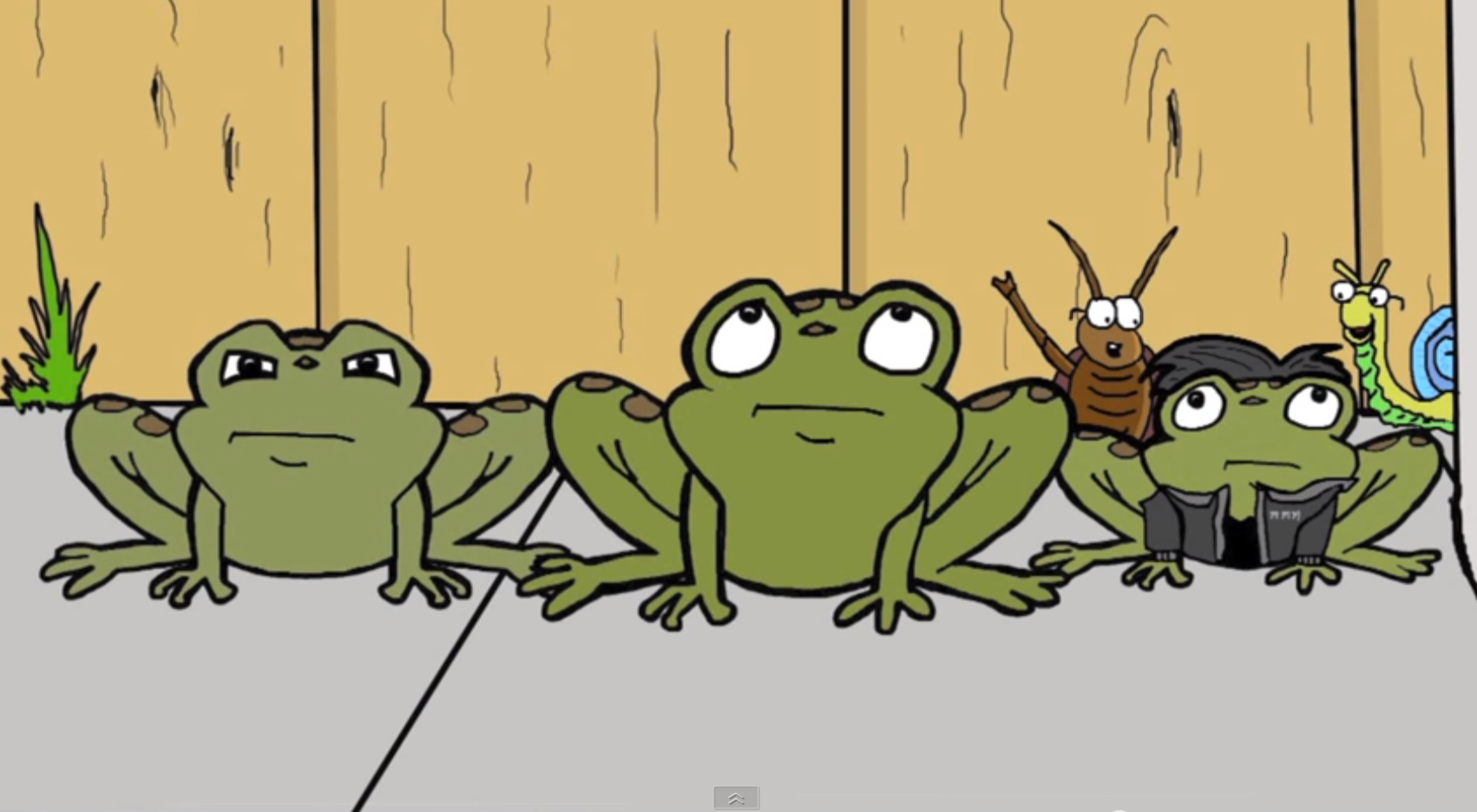 The mean, median, and mode toads help a boy with math in this short ...