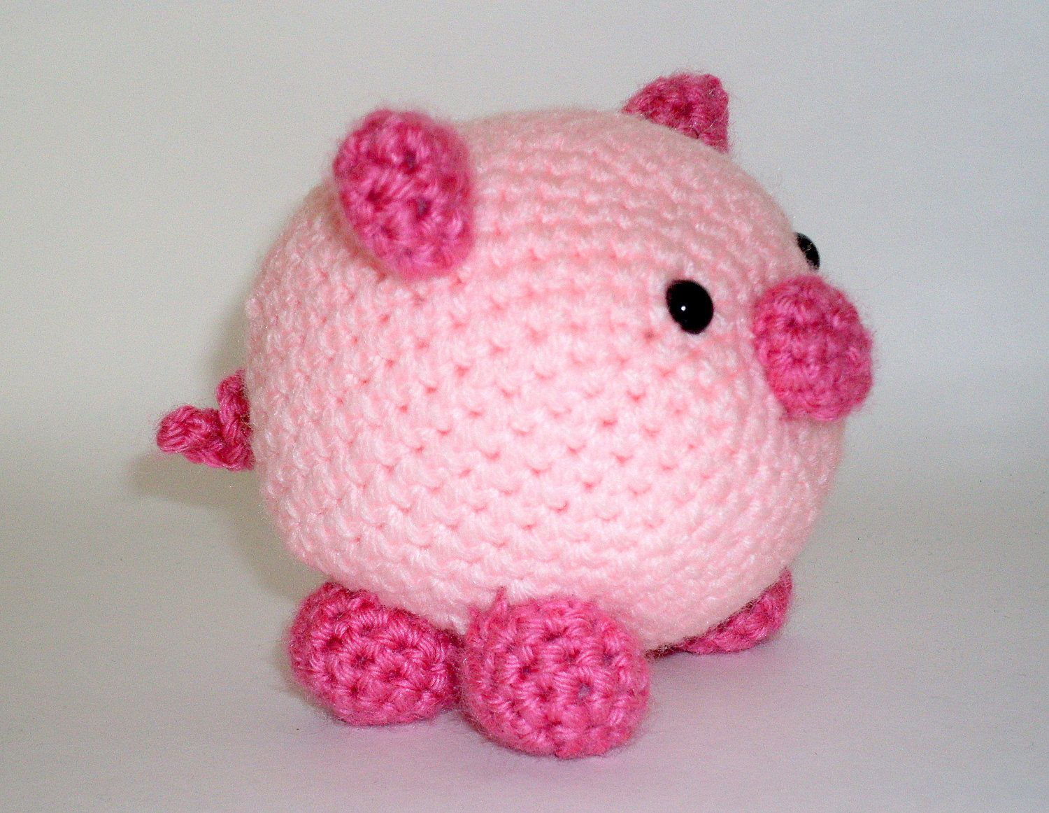 Pig Amigurumi Crochet Stuffed Animal Pink by HookAndStitches. $20.00 ...