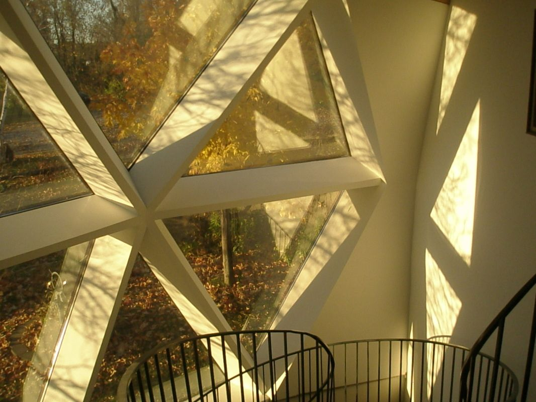 Dome skylight triangle hexagon roof window Dome