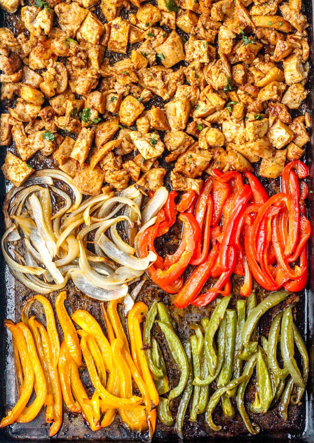 Photo of Sheet Pan Chipotle Chicken Burrito Bowls (Gluten-Free)