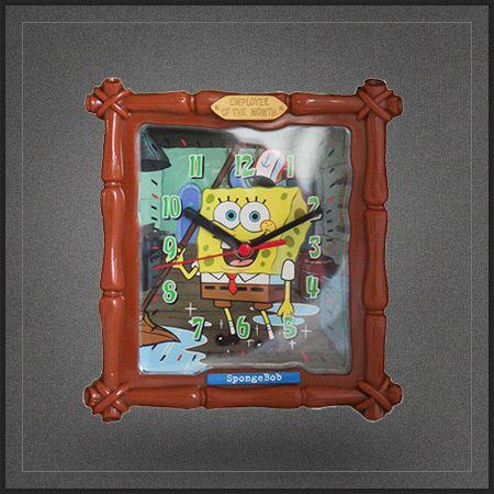 Horloge bob l 39 ponge spongebob squarepants une tr s Tout pour le bureau