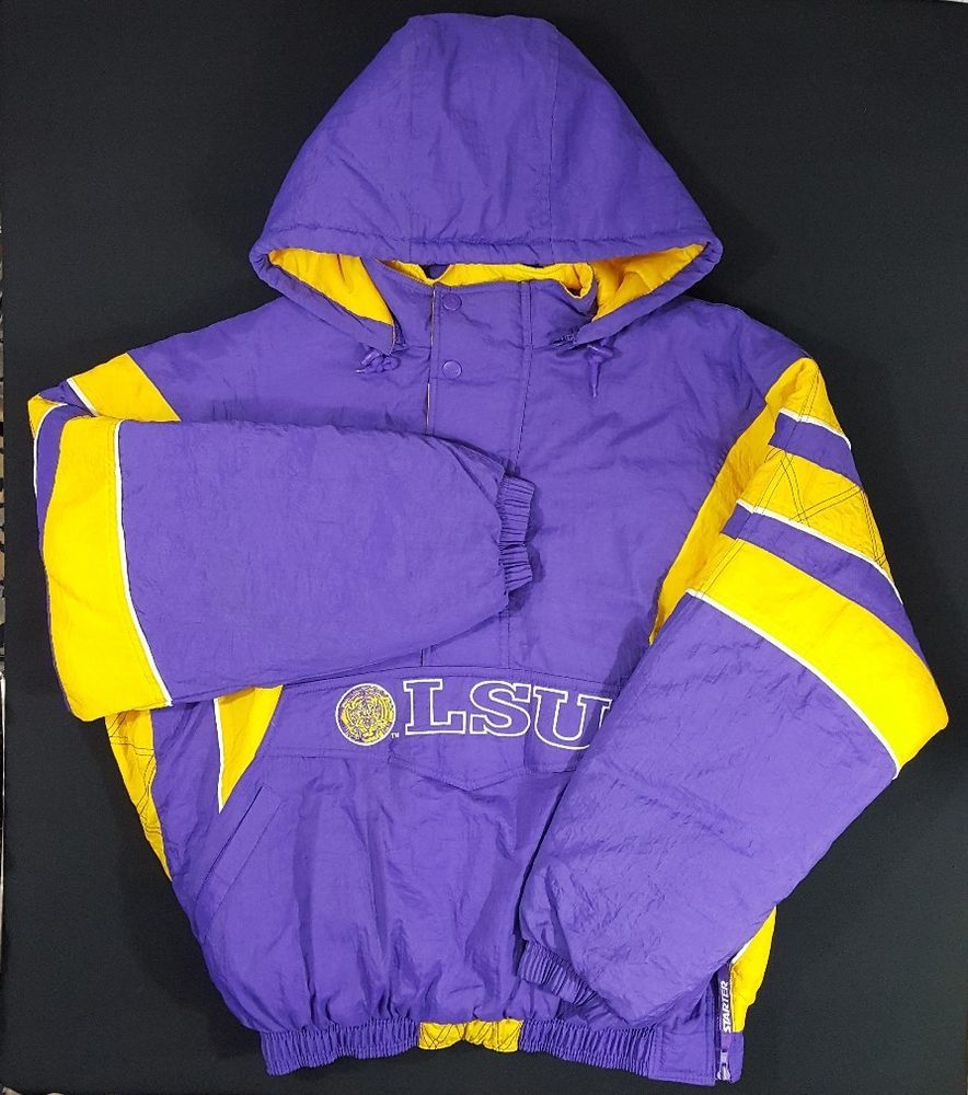 Starter Louisiana State University LSU Tigers Puffer Jacket Coat Sz XXL