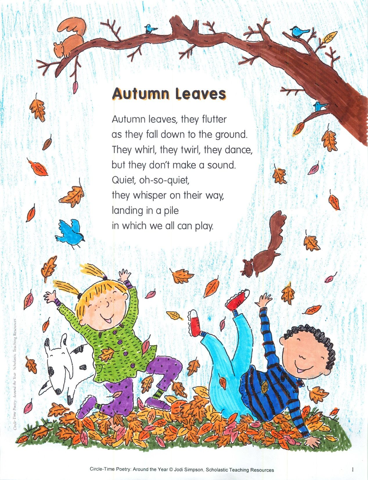 Provide Each Child With A Real Leaf Before Reading The