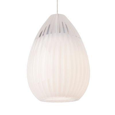 Tech Lighting Ava 1 Light Mini Pendant Base Finish: Satin Nickel, Shade Color: White