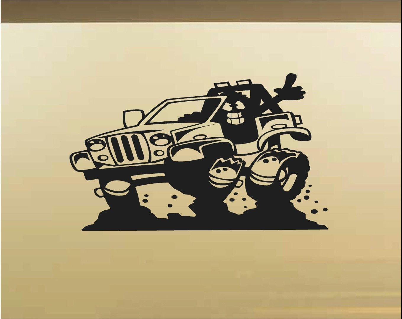 Jeep Car Wall Decal - Auto Wall Mural - Vinyl Stickers - Boys Room ...