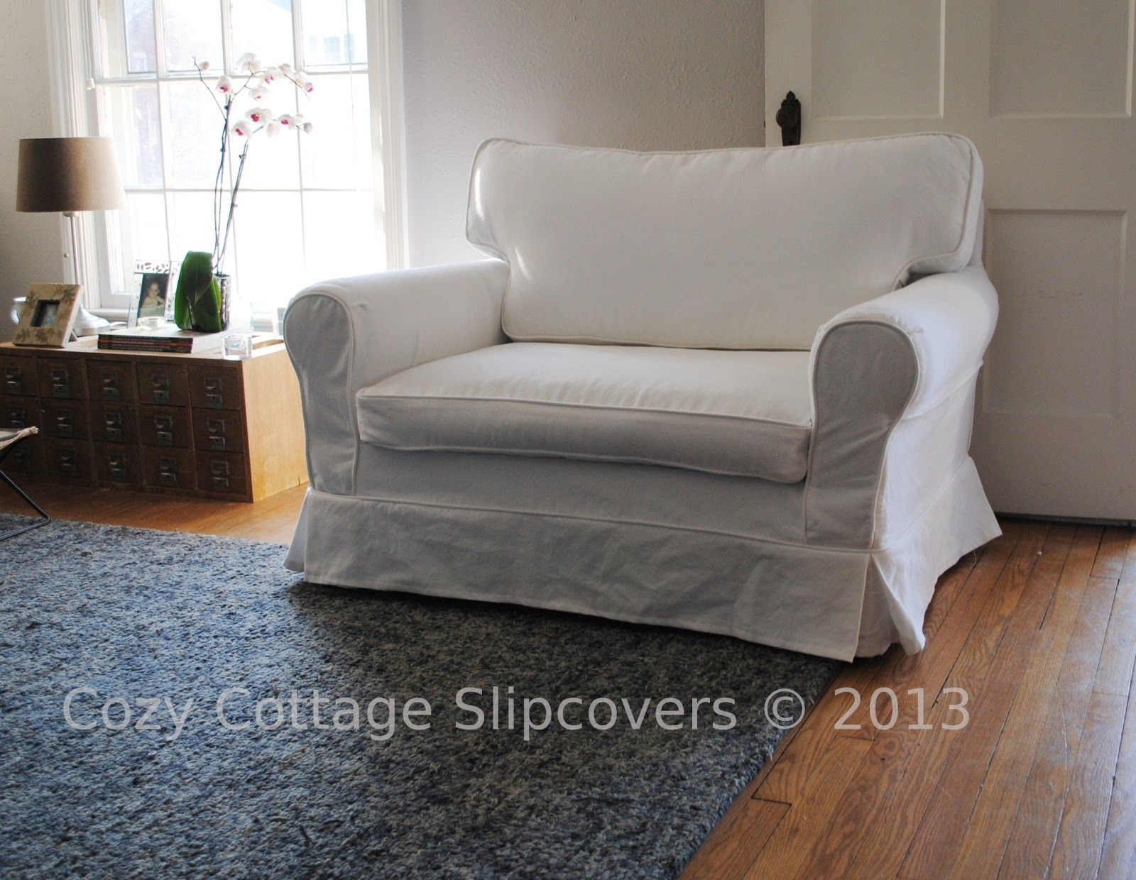 Attractive Slipcover Chair And A Half #3 - Chair And A Half Slipcovers