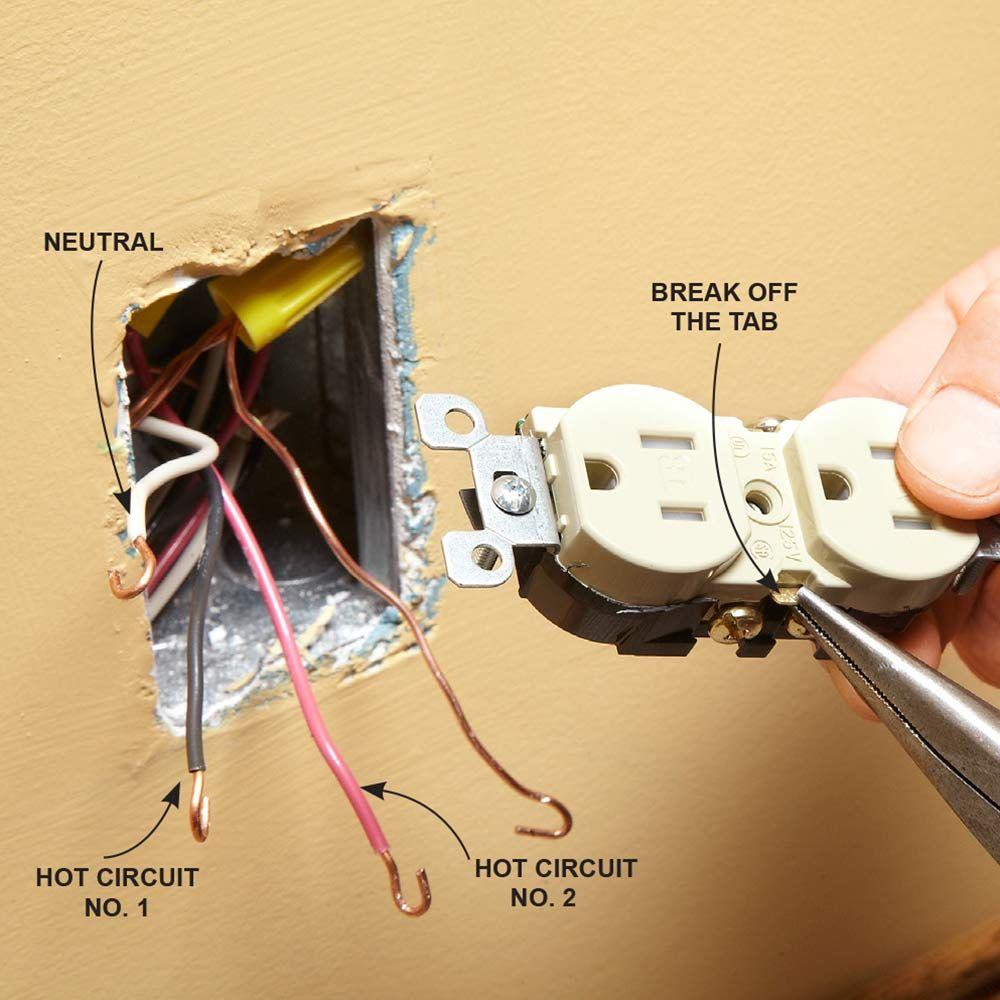 Wiring A Switch And Outlet The Safe Easy Way Remodeling An Old Match Breakaway Tab To Original There Are Few Reasons That May Be Removed When You Replace