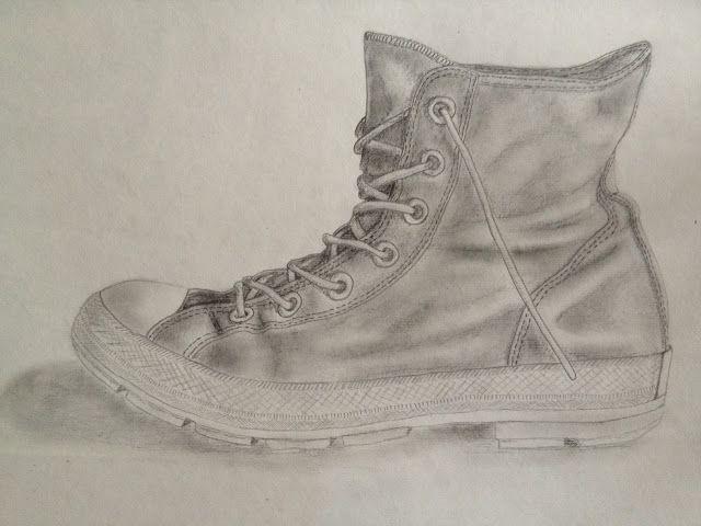 perspektivische Zeichnungen | Schuhzeichnung, Converse, Schuhe