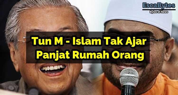 Tun Mahathir Islam Tak Ajar Panjat Rumah Orang Mirrored Sunglasses Men Orange Islam