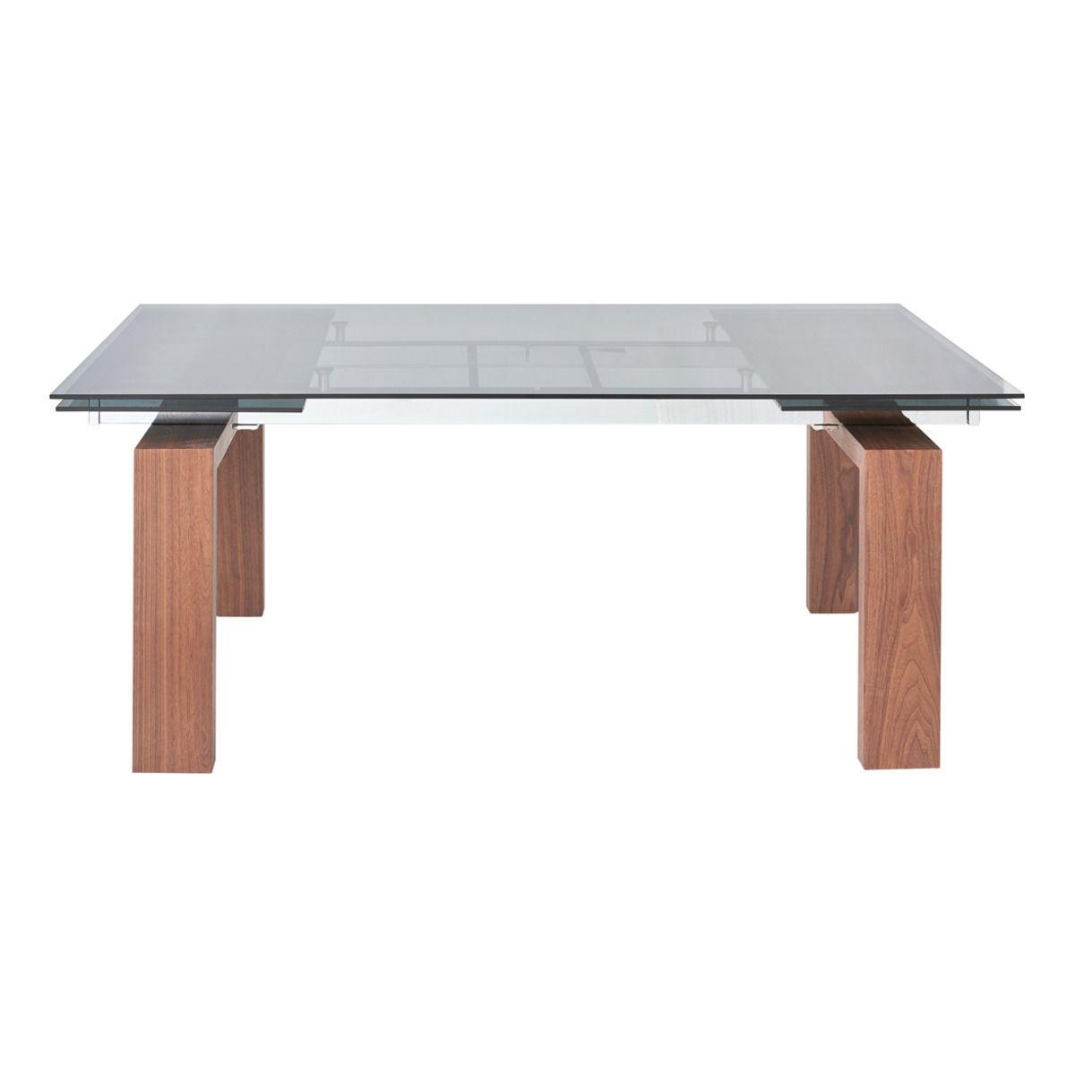 Mesa de comedor extensible de madera y cristal Qubic | mesas comedor ...