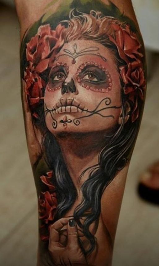 Santa Muerte Tattoo Google Search Tattoo Wytatuowane