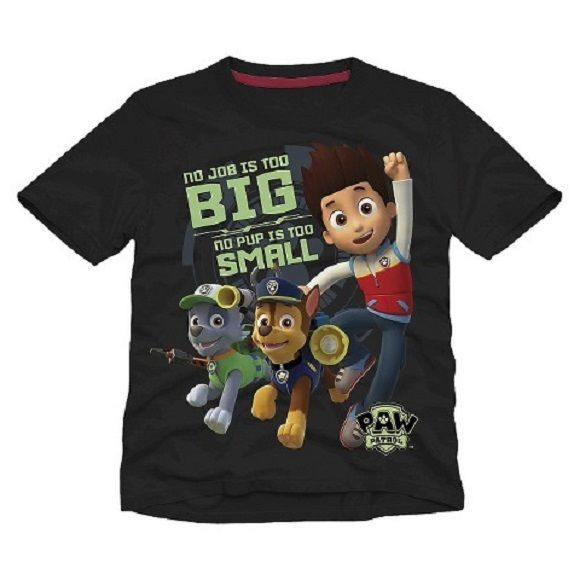 Nickelodeon Paw Patrol Black Shirt Toddler Boys Sz 5T New w/ Tags!! Great Gift!! #Nickelodeon #Everyday