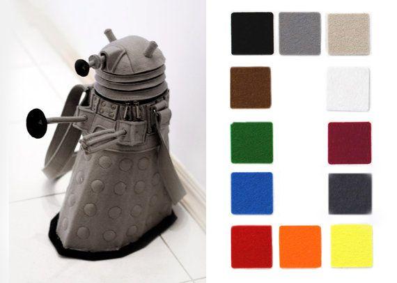 Felt Dalek bag Dalek Purse by krukrustudio on Etsy, $190.00