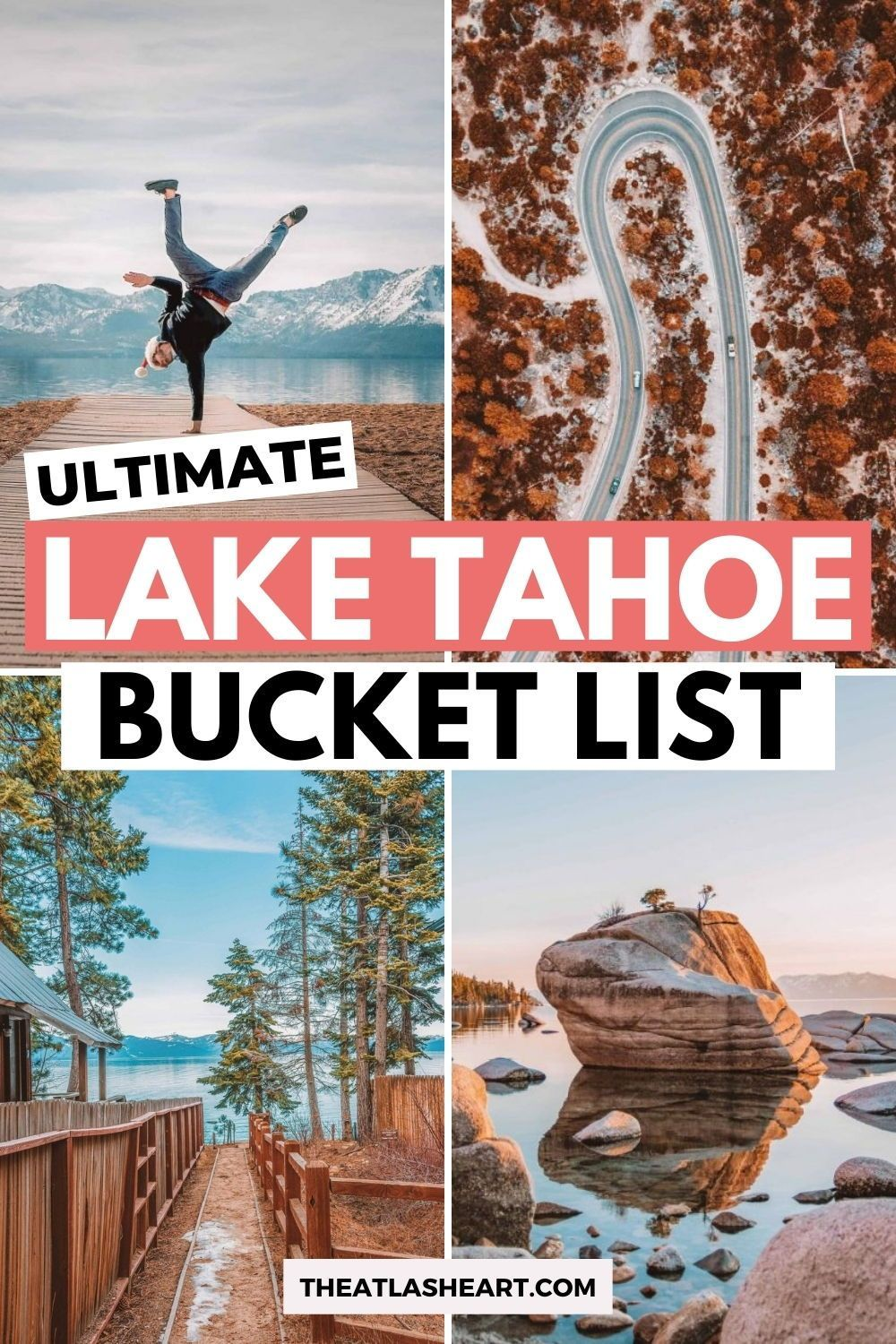 50 of the best things to do in Lake Tahoe! Lake Tahoe is a favorite Northern California getaway and California travel destination. Because of this, every California bucket list should have a Lake Tahoe vacation on it - it's California's most beautiful lake! If you're wondering what to do in Lake Tahoe, these are my picks for a Lake Tahoe summer bucket list (or winter bucket list), including the top free things to do in Lake Tahoe (there are a lot). #laketahoe #laketahoevacation #tahoe
