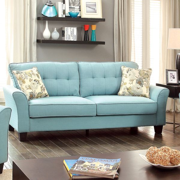 Furniture Of America Primavera Modern Linen Sofa   Overstock™ Shopping    Great Deals On Furniture