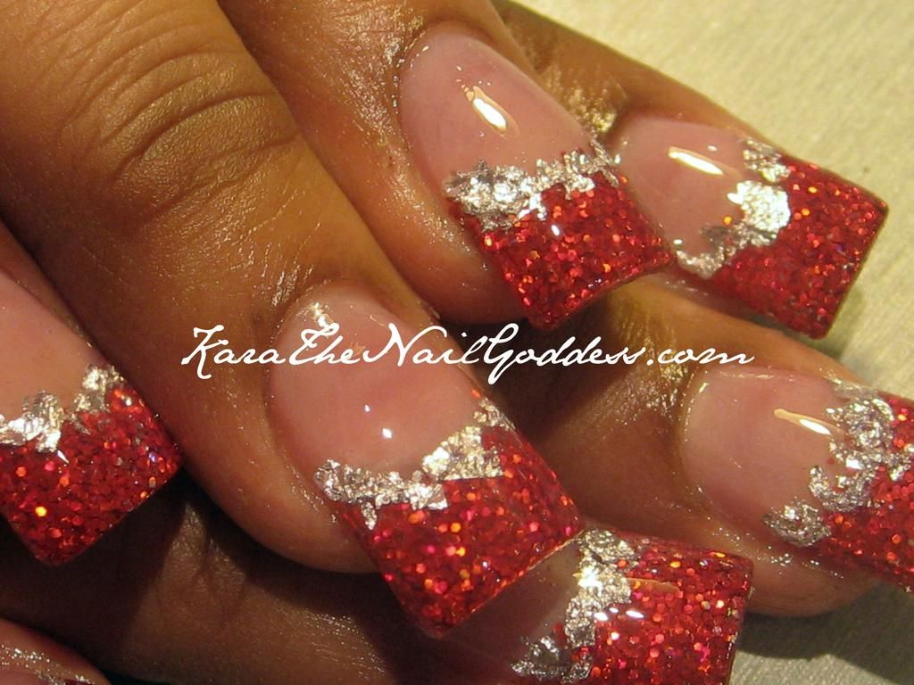 red and gold glitter nails | acrylic nail art designs | pinterest
