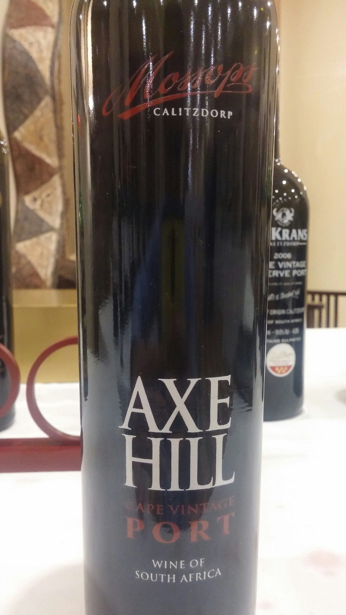 Axe Hill Calitzdorp Cape Vintage Port 2005 Sommelier Miguel Chan