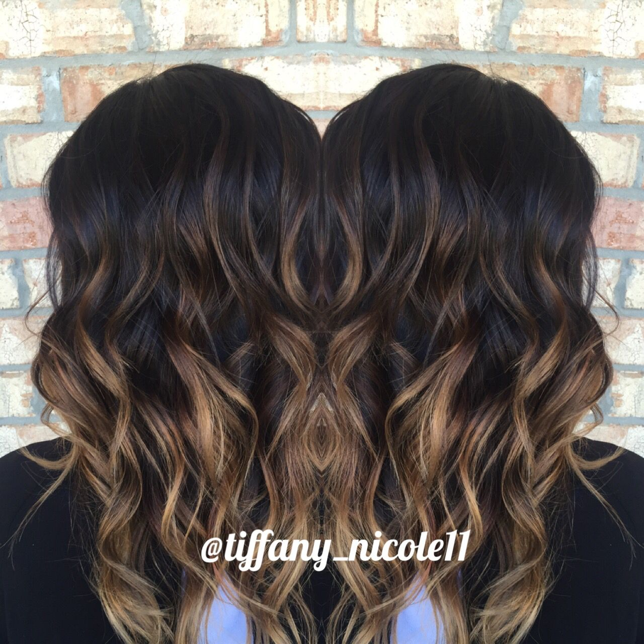 Hair dark with light brown tips photos