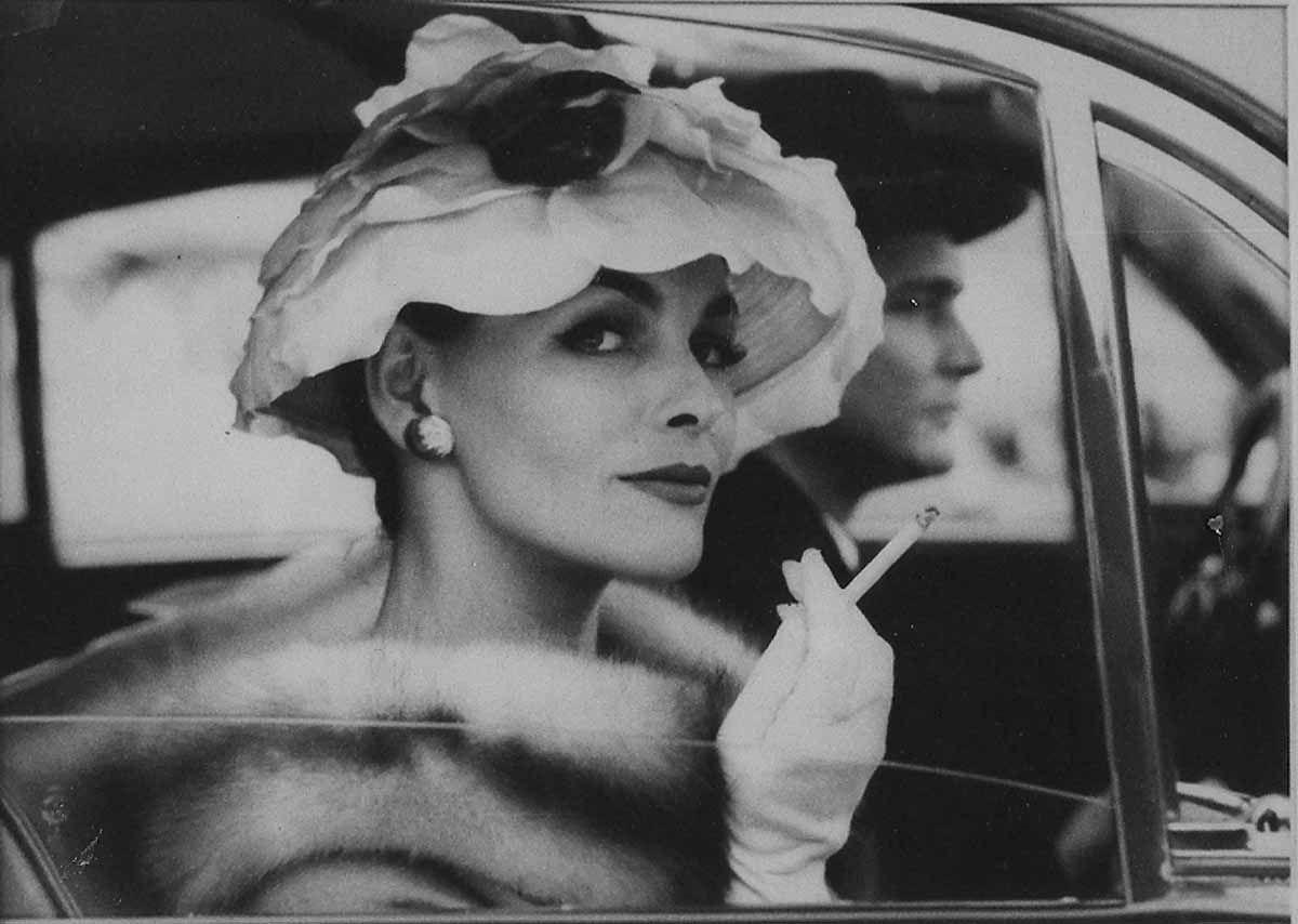 harper's bazaar | 1958 Harper's Bazaar. Model Anne St Marie wearing Frances Pellegrini ...