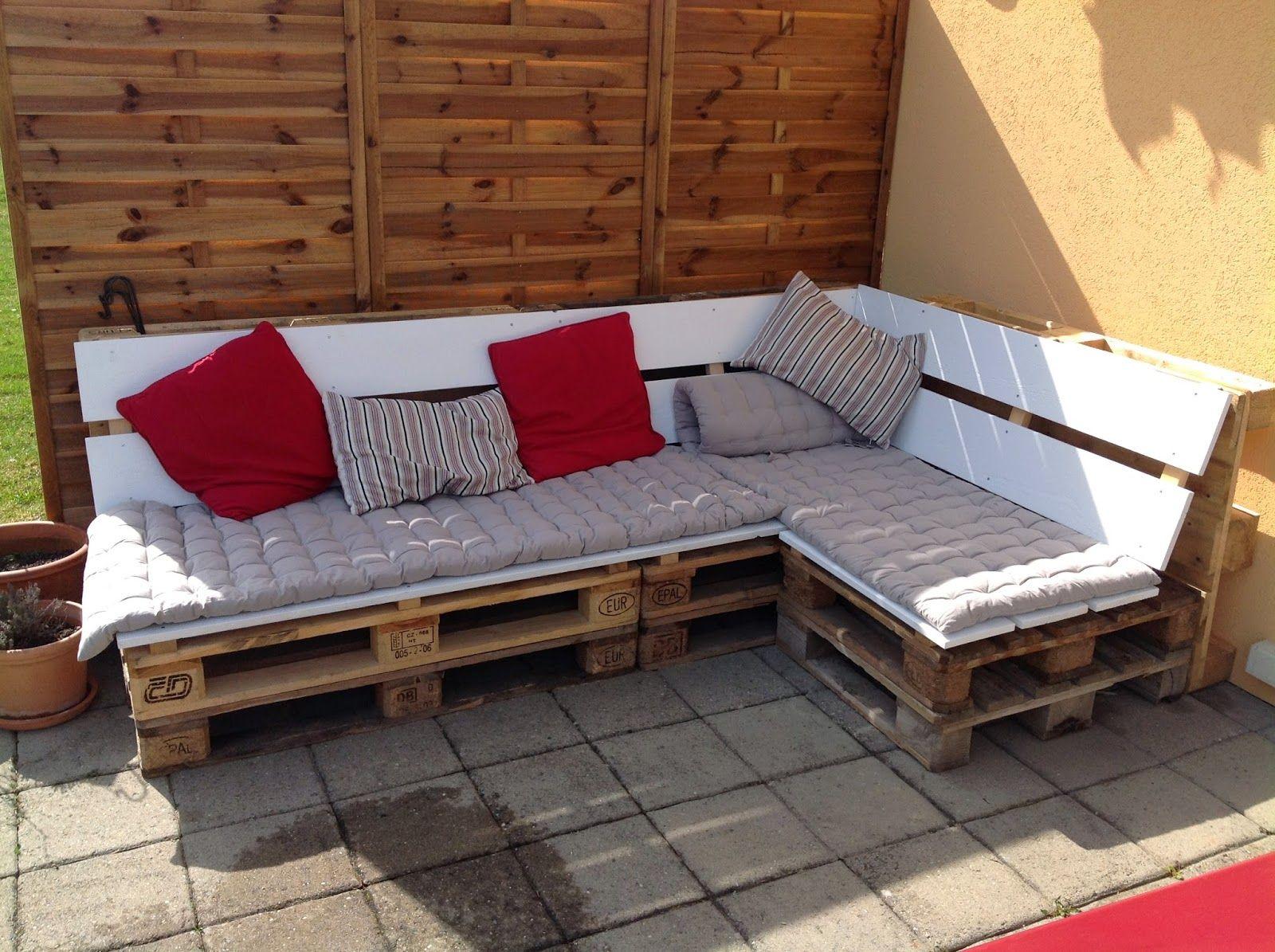 Banquette En Bois Pour Salon dedans banc pour la terrasse en palette de récupe | pallet | pinterest