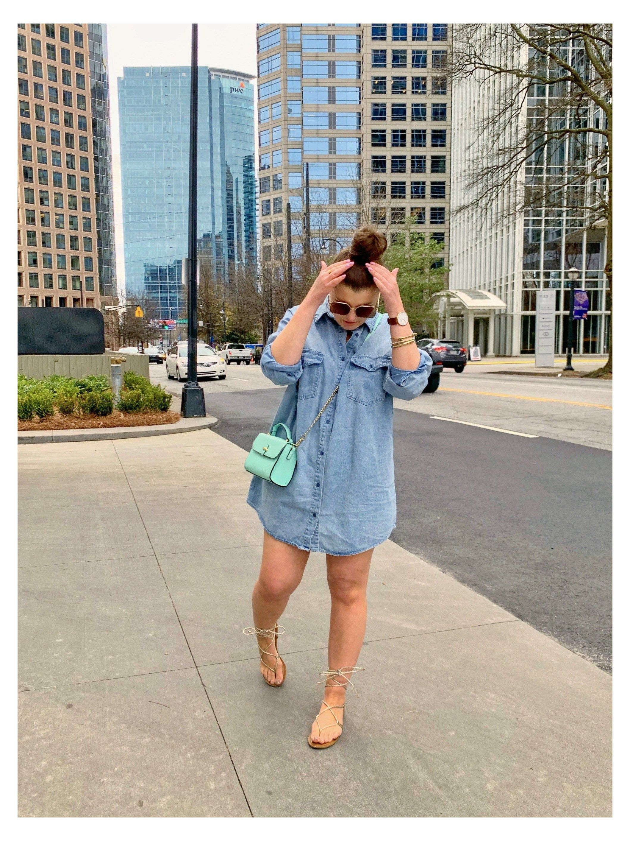 Spring Outfit Oversized Denim Shirt Dress Denim Shirt Outfit Summer Plus Size Denimshir Shirt Dress Outfit Summer Denim Dress Outfit Shirt Dress Outfit [ 2824 x 2117 Pixel ]