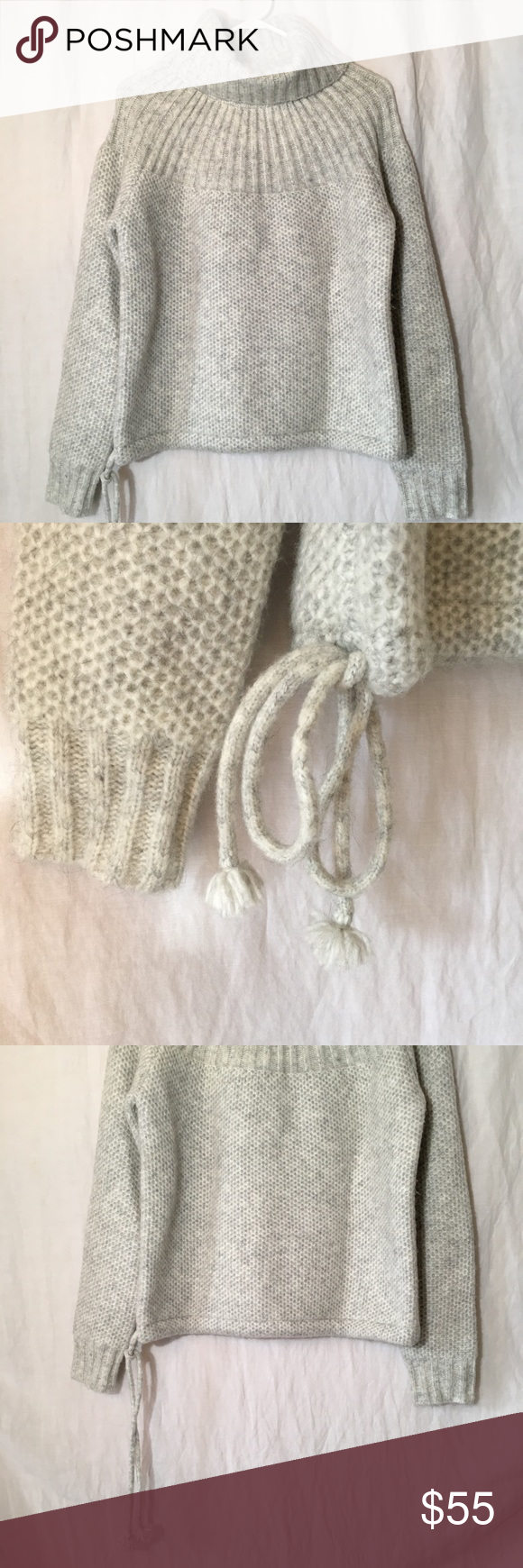 .Madewell. Oversized Wool Blend Cowl Neck Sweater