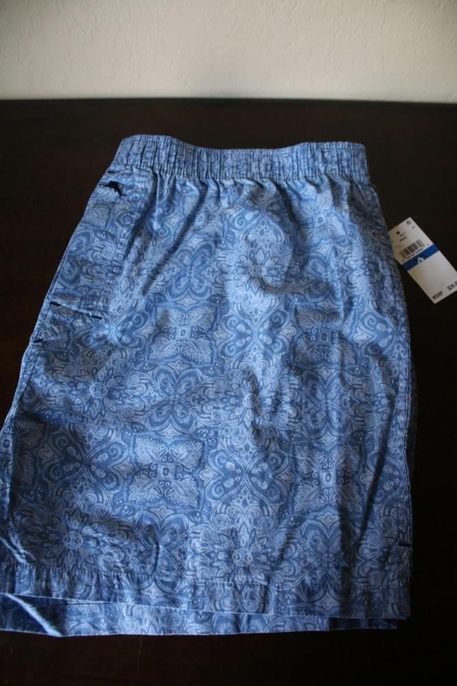 Tommy Bahama Men s Woven Boxer Shorts Blue Hawaiian - Size XL - NWT   TommyBahama  SleepShorts f1f095dc4