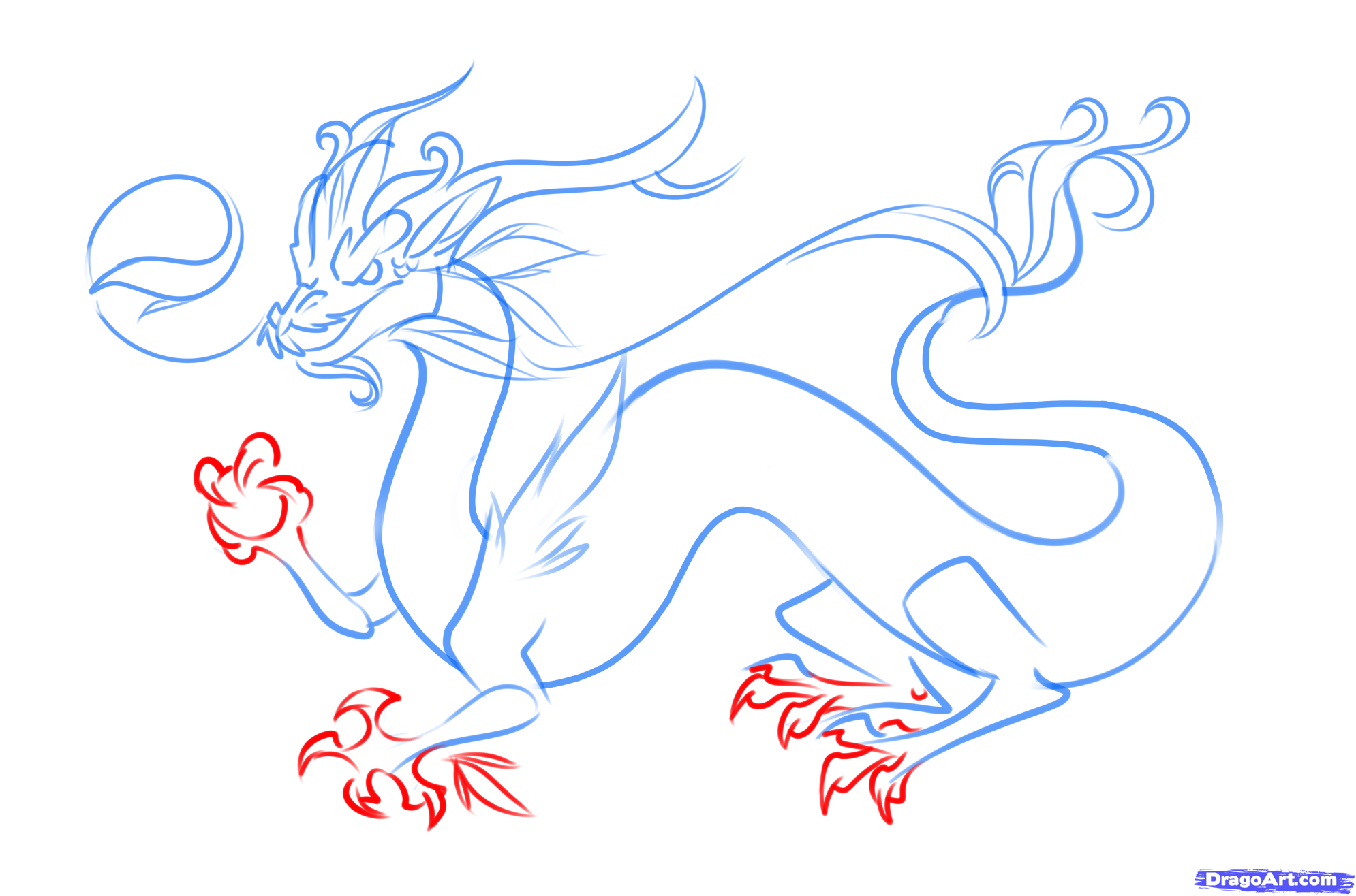 How To Draw A Chinese Dragon Easy Step 6 In 2019 Chinese