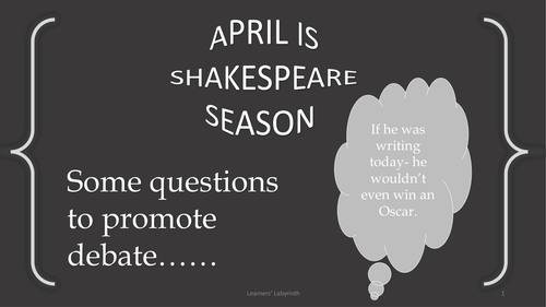 April is Shakespeare Season
