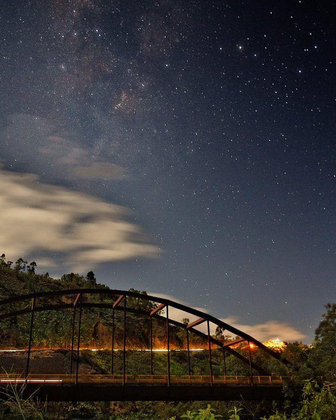 In a moonlight night and after three attempts before finally we could see the #MilkyWay and the Consacá bridge in the same picture. It was awesome!  En una noche con #luz de luna y después de tres intentos anteriores finalmente pudimos ver la #VíaLáctea y el puente de Consacá en la misma imágen. Fue increíble!       @idpacifico @idcolombia @idlatino @pasto_narino_colombia @waycorigen @yo.soy.pasto @turismopasto @estoespasto @lauralloyd_e @gobernaciondenarino @greatcolombia…