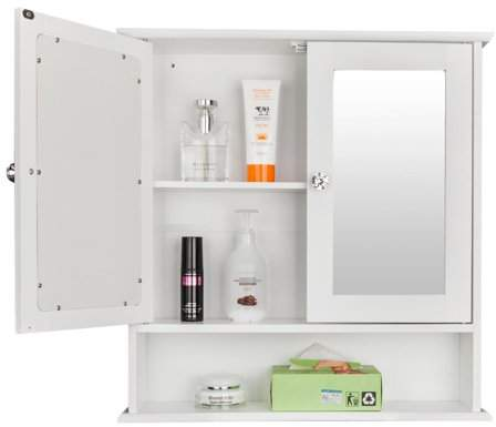 39+ Bathroom wall cabinets with doors and shelves white best