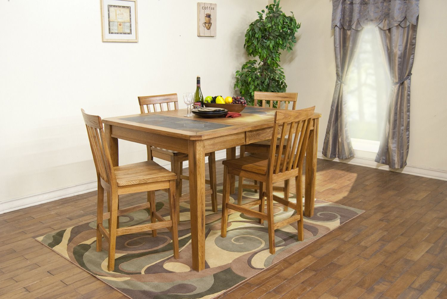 Sedona Extension Table w/ Slate Top Dining Room Set | Sunny Designs ...
