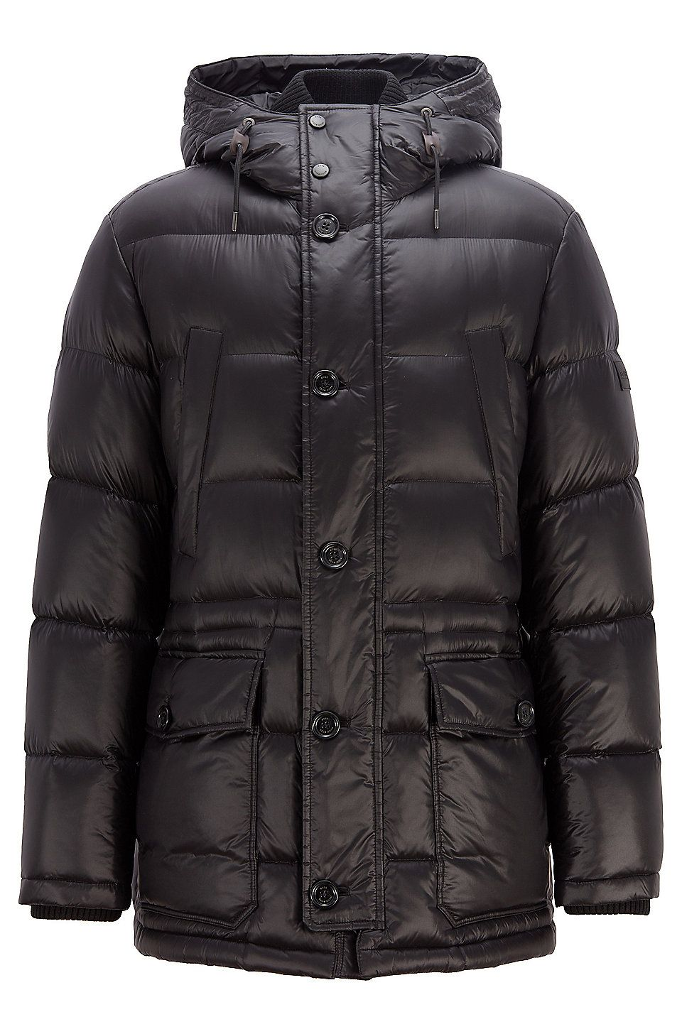 Hugo Boss Hooded Down Filled Parka Jacket With Ribbed Cuffs Black Down Jackets From Boss For Men In The Official Hugo Boss Online Parka Jacket Jackets Parka [ 1456 x 960 Pixel ]
