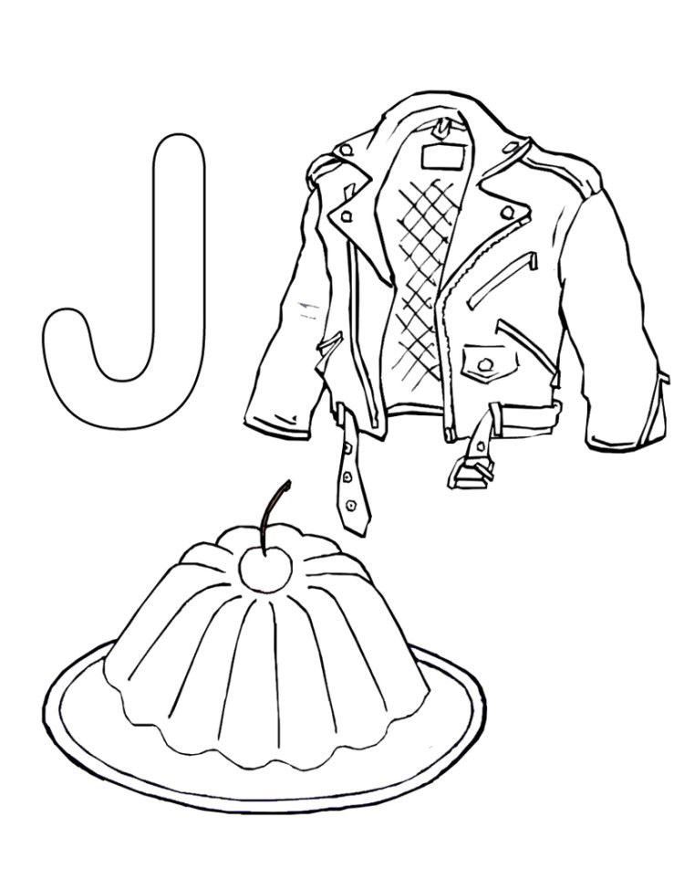 J For Jacket Coloring Pages Alphabet Coloring Pages Preschool Alphabet Printables Happy Birthday Coloring Pages