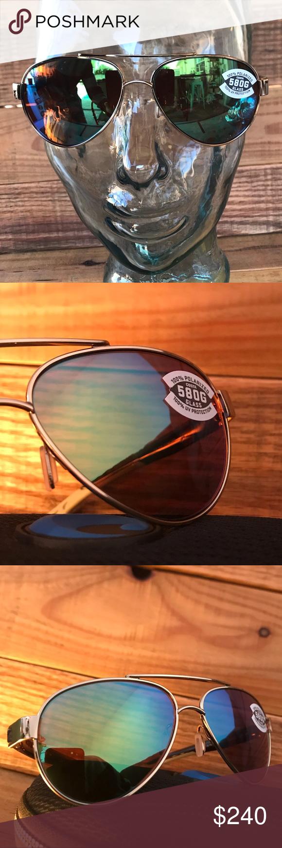 32c7a7123ad31 NWT Costa Del Mar gold aviators green mirror 580G Info coming soon unisex  Costa Accessories Sunglasses