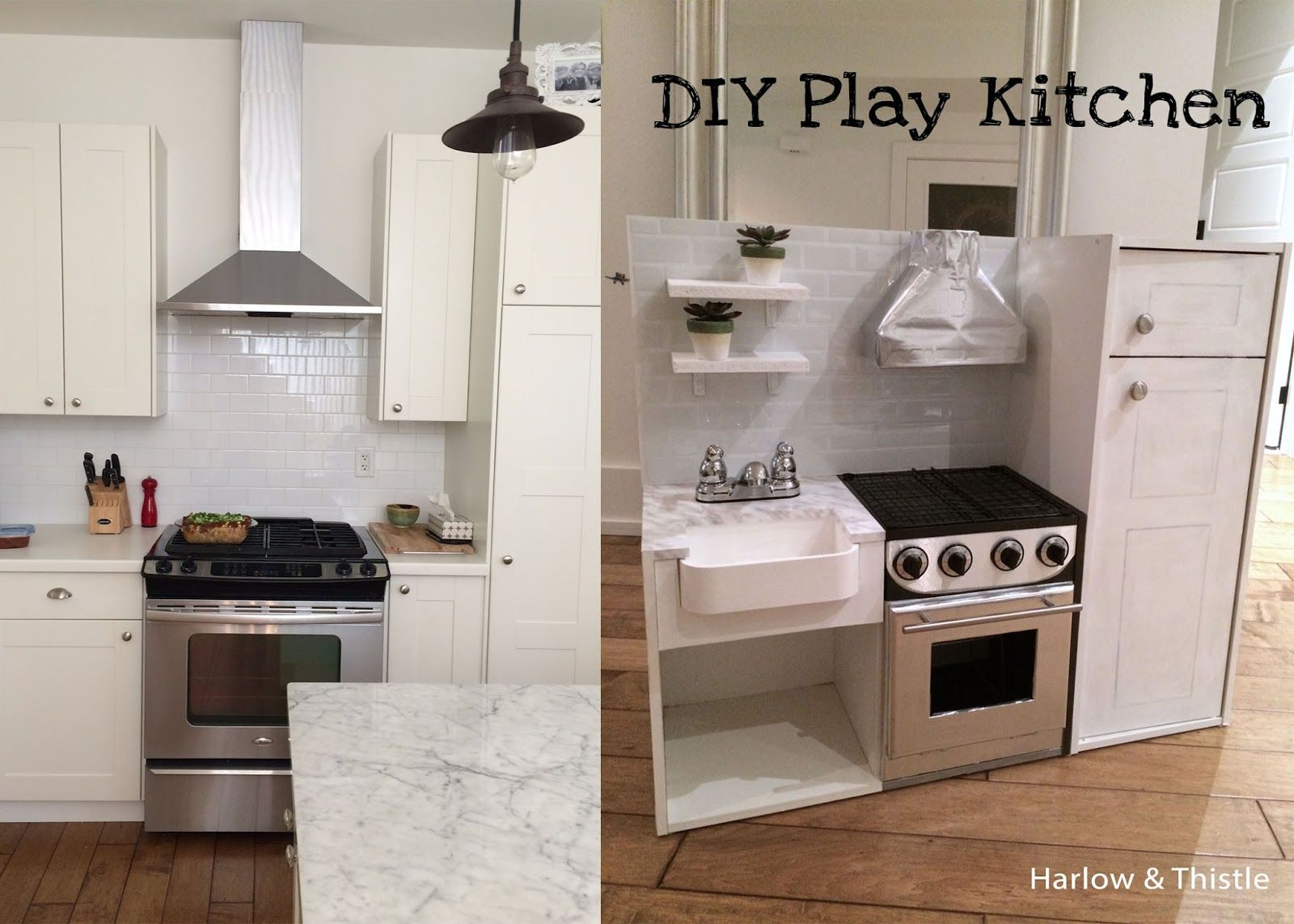 Diy Play Kitchen harlow & thistle - diy play kitchen, toy kitchen with farmhouse