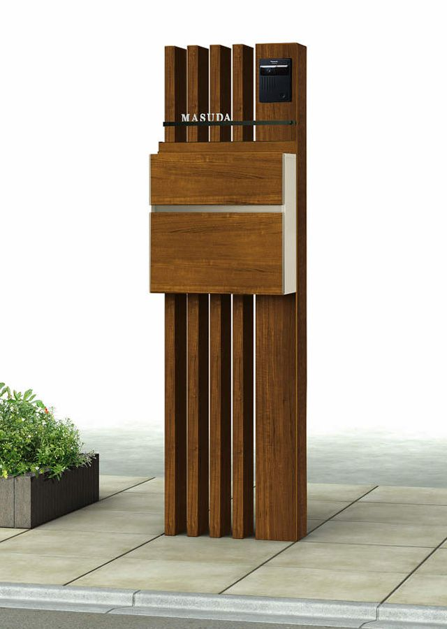 ルシアス シリーズ ポストユニット 玄関 エクステリア 庭 飛び石 玄関 コンクリート