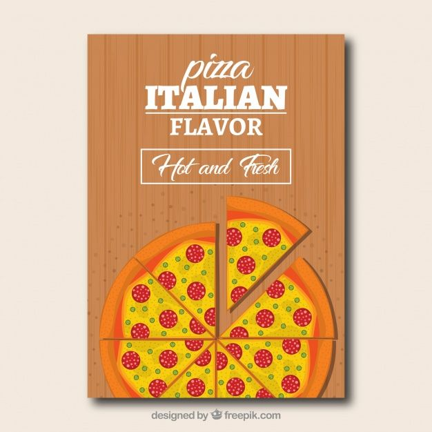 Pizza and cheese brochure #Free #Vector #Brochure #Flyer #Food - food menu template