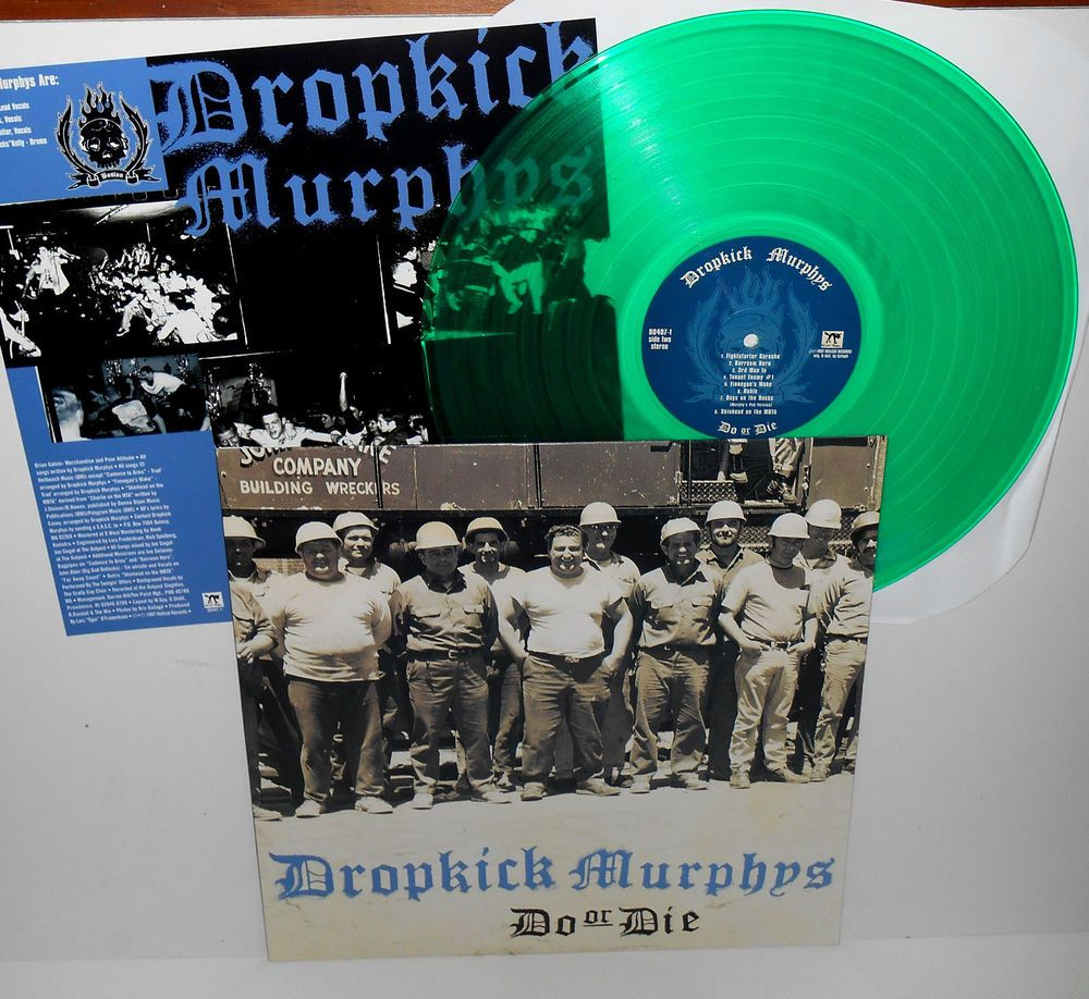 DROPKICK MURPHYS do or die Lp Record GREEN VINYL with lyrics insert #punkPunkNewWave