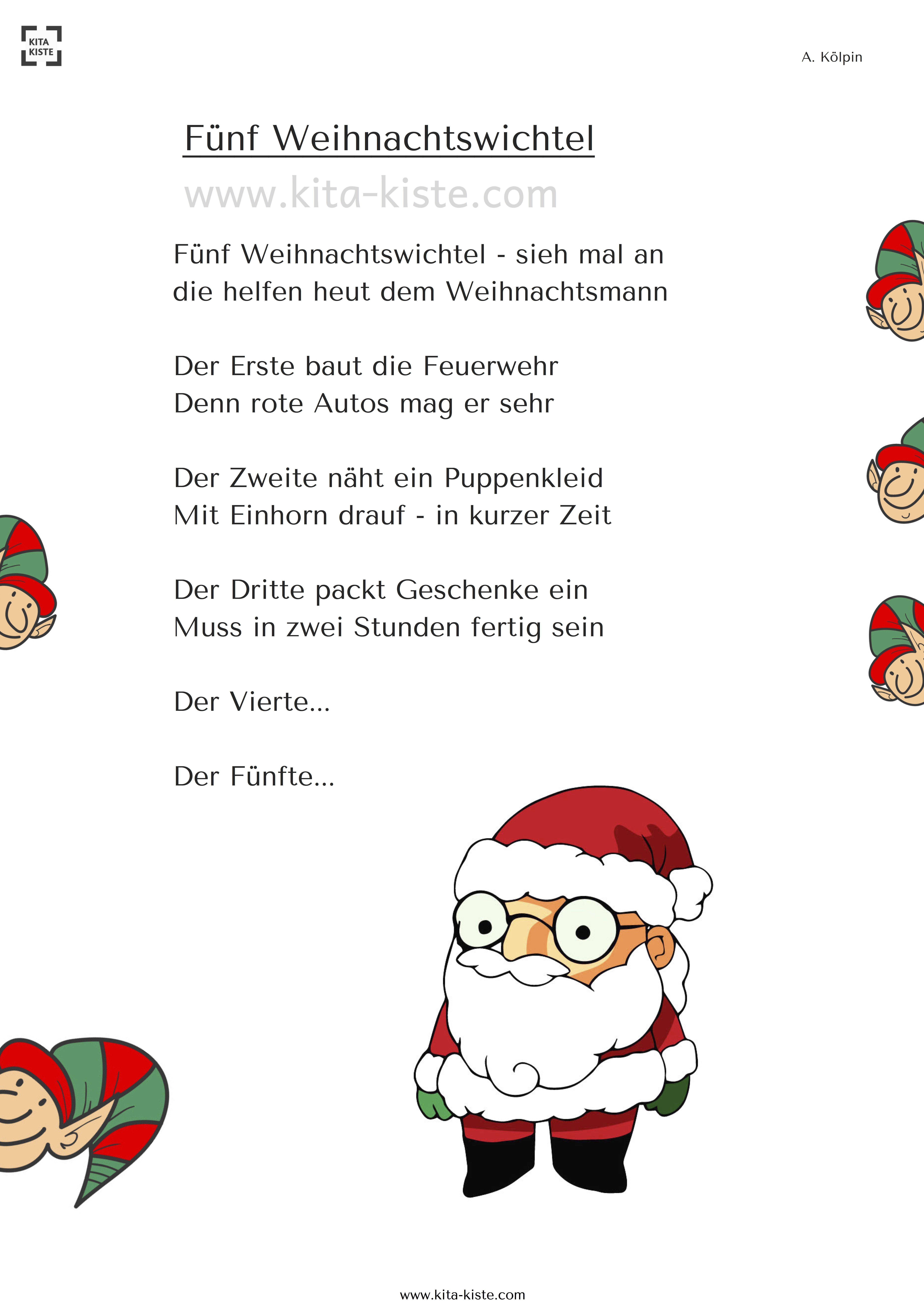 Funf Weihnachtswichtel Bestkaraokemachine Weihnachts Gedicht Wie Helfen Die Wichtel Dem Weihnachtsmann Weihnachtswichtel Gedicht Weihnachten Weihnachtself