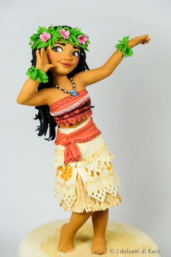 Disneys Moana Vaiana Toppers Tartas Plástico Figuras Nuevo