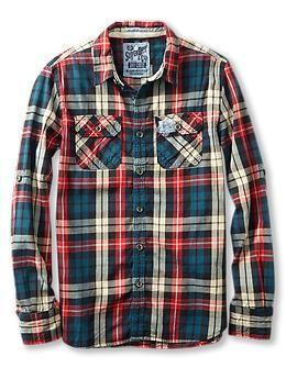 Gap Mens Flannel Shirts