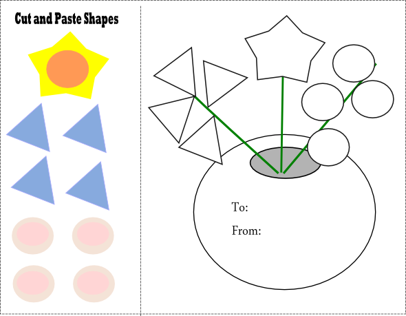 Printables Cut And Paste Worksheets For Kindergarten shapes kindergarten preschool cut and paste matching worksheets worksheet from paperandthepea com this site has great worksheets