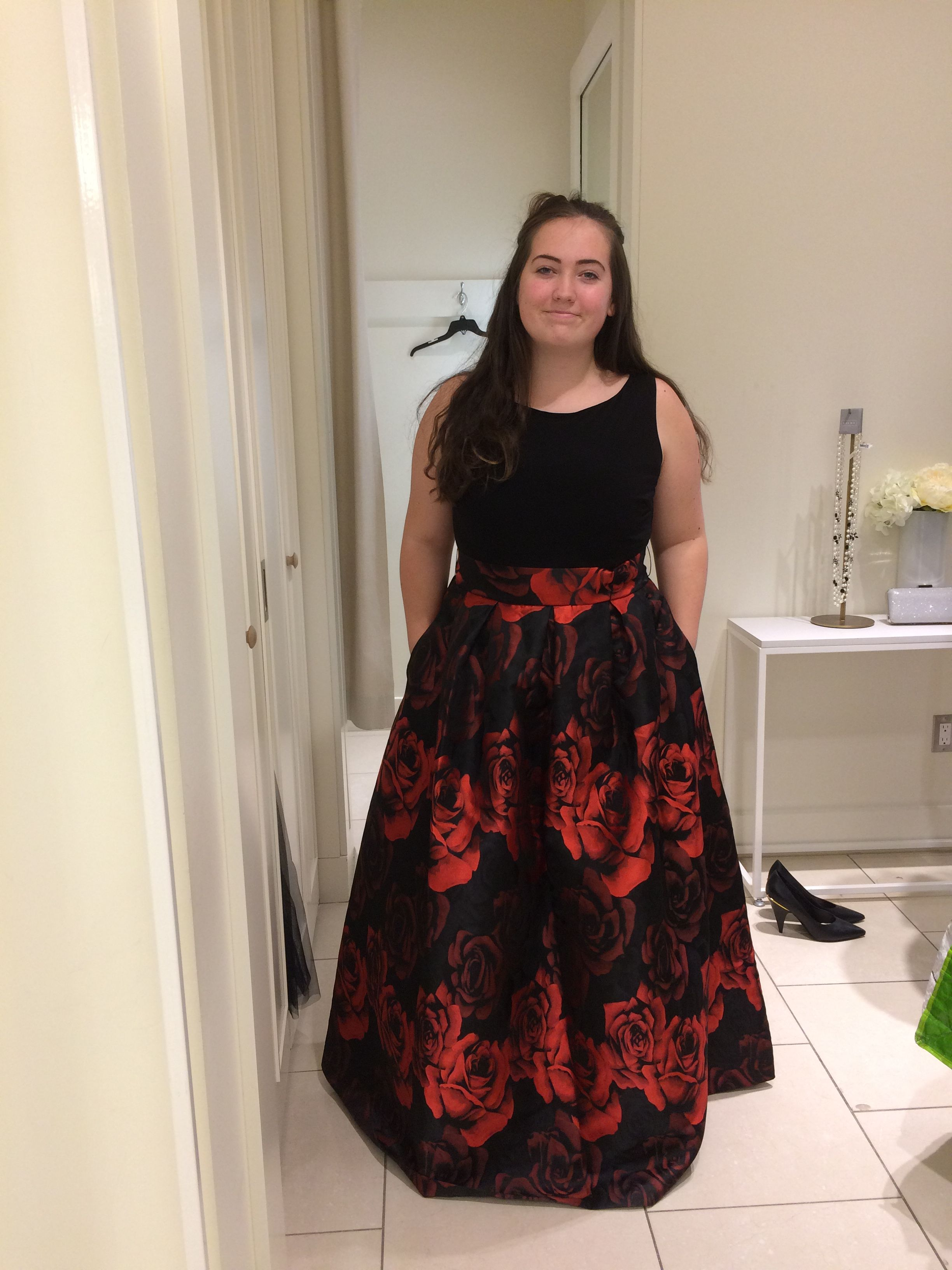 Black and red rose prom dress dresses pinterest